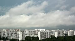 Clouds over the city Stock Footage