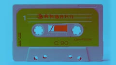 Tape vintage cassette collection Stock Footage