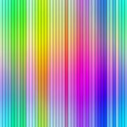 Bright vibrant multicolored abstract graduated stripes. Stock Illustration