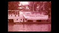 Imperial Airways Nile River service barge 1937 Stock Footage