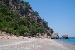 Stock Photo of Lonely beach, Mediterranean coast,Turkey
