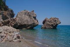 Mediterranean coast,Turkey Stock Photos