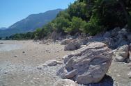 Lonely beach, Mediterranean coast,Turkey Stock Photos