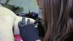Tattooing Stock Footage