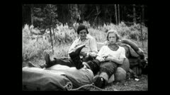 Montana ladies at rest 1935 B-W Stock Footage