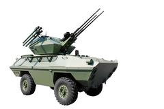 Anti aircraft armored vehicle.jpg Stock Photos