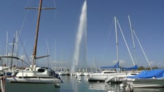 Port at Lac Leman Stock Footage