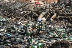 Stock Photo of Dumpyard, bottles