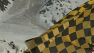 Stock Video Footage of Avalanche Flag