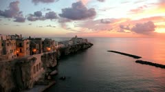 Vieste old town, Puglia, Italy - stock footage