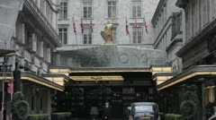 Savoy Hotel - stock footage