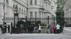 Entrance to Downing Street Stock Footage