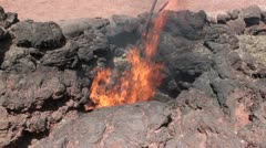 Geyser Lanzarote at Canary Islands Stock Footage