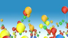 Color balloons fly away Stock Footage