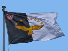 Azores flag Stock Photos