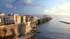 Vieste old town, Puglia, Italy Stock Footage