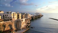 Stock Video Footage of  Vieste old town, Puglia, Italy