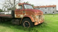 Rusted Ford Truck Stock Footage