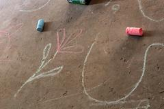Chalk Drawing - stock photo