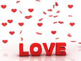 Valentine love, 3d background with red heart Stock Illustration