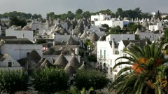 Trulli houses in Alberobello, Italy Stock Footage