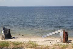 Debris on the shore - stock photo
