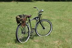 Military bicycle - stock photo