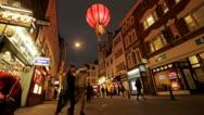 London china town lantern timelapse Stock Footage
