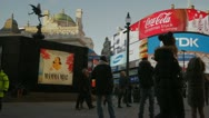 Piccadilly circus people eros time lapse Stock Footage