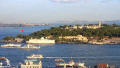 Historical peninsula of Istanbul Stock Footage