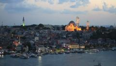Eventide in Istanbul - stock footage