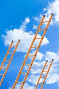 Ladder to success - stock photo