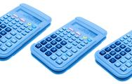 Stock Photo of calculators isolated