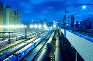 Night Train in China Stock Photos