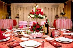 Wedding Banquet in China Stock Photos