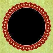 Round scrapbook s frame background Stock Illustration