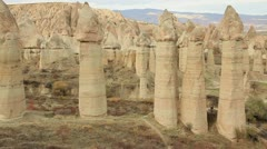 Famous city  Cappadocia in Turkey - stock footage