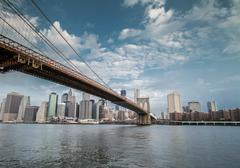Brooklyn Bridge in NYC - stock photo
