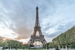 Eiffel Tower Evening Stock Photos