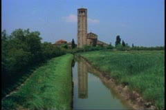 The Cathedral of Torcello, The Island of Torcello outside of Venice Stock Footage