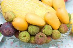 Mixed Fruits set Stock Photos