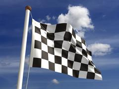 Chequered flag Stock Illustration