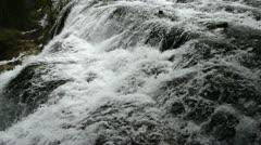 Autumn view of the Jiuzhaigou Valley waterfalls - stock footage
