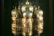 Stock Video Footage of Saint Mark's Basilica, Venice, Italy, interior, treasury, gold reliquary