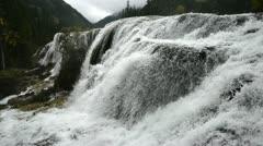 Autumn view of the Jiuzhaigou Valley waterfalls Stock Footage