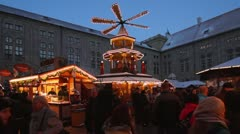 Christmas Market in Munich, Bavaria, Germany Stock Footage