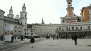 Stock Video Footage of Mozartplatz, Salzburg