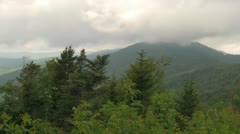 Pan Over the Blue Ridge Mountains on a Stormy Day - stock footage