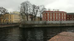 New Holland Island and the River Moika, St.Petersburg, Russia Stock Footage