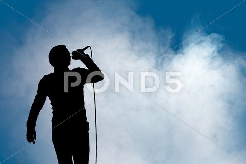 Stock Illustration of performing artist at concert